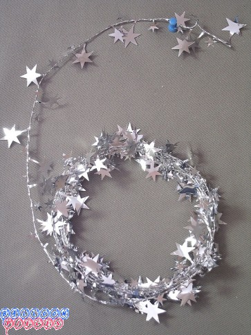 Silver Star 18' Wire Garland