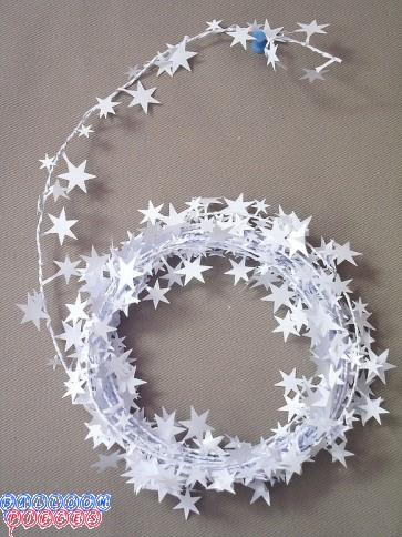 White Star 18' Wire Garland