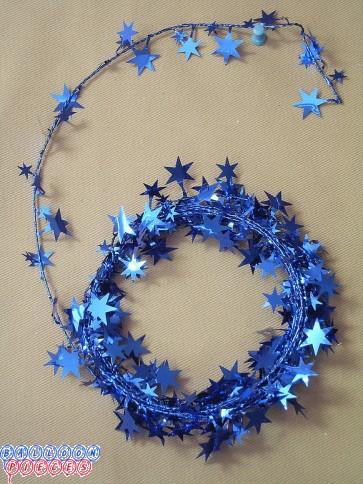 Blue Star 18' Wire Garland