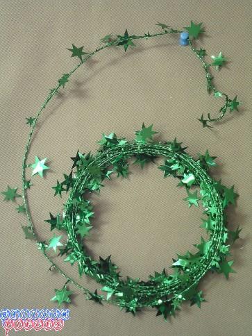 Green Star 18' Wire Garland