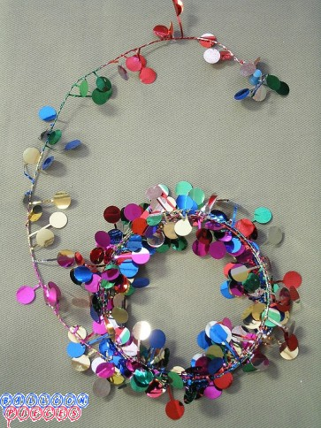 Multicolor Dot 9' Wire Garland