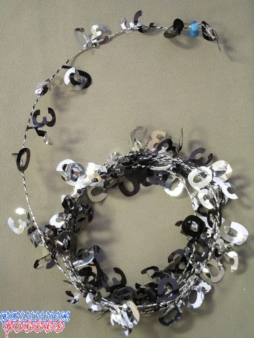Black & Silver 9' 30th Wire Garland