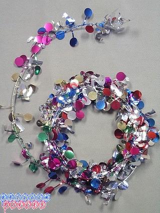 Multicolor 12' 21st  Wire Garland
