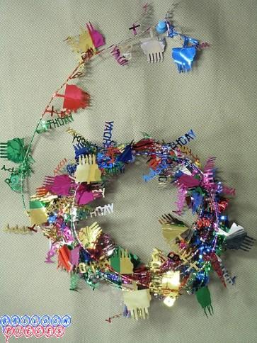 Multicolor 12' Happy Birthday Wire Garland