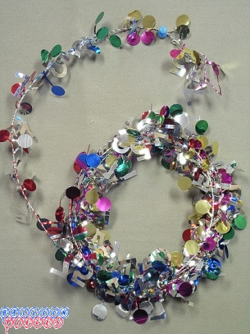 Multicolor 9' 75th Wire Garland