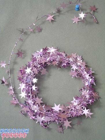 Pink Star 25' Wire Garland