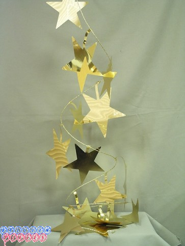 Jumbo Gold Star 9'  Wire Garland