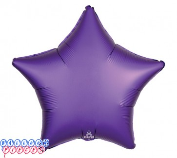 """Satin Luxe Royal Purple 18"""" Solid Color Star Shape Foil Balloon"""