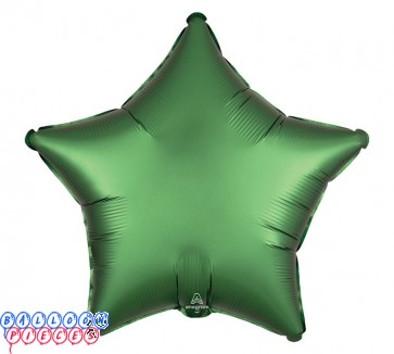 """Satin Luxe Emerald Green 18"""" Solid Color Star Shape Foil Balloon"""