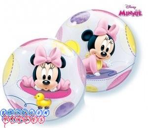 "Baby Minnie 22"" Round Bubble Balloon"