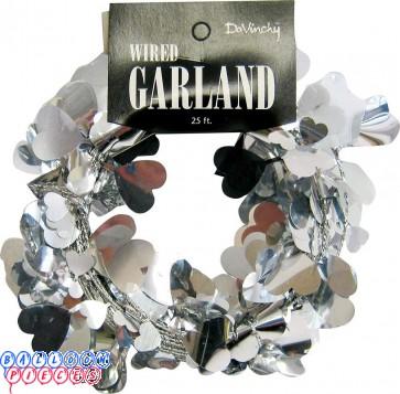 Silver Hearts 25' Wire Garland