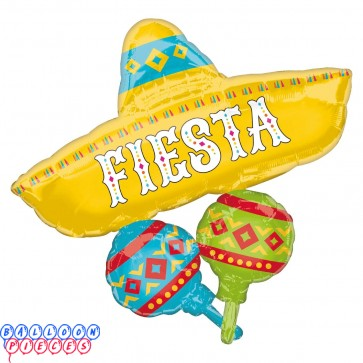 "Papel Picado Fiesta Cluster SuperShape Foil Balloons 31"""