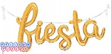 Fiesta Gold Script 53 inch Foil Balloon