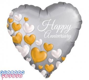 "Happy 25th Anniversary 18"" Metallic Balloon"