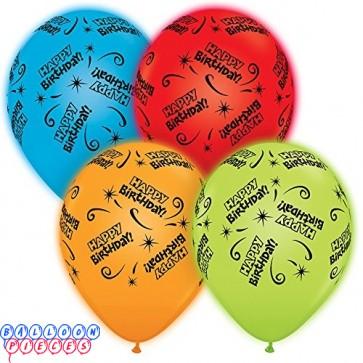 Happy Birthday Q-lite 11 inch Led Lit Latex Balloons