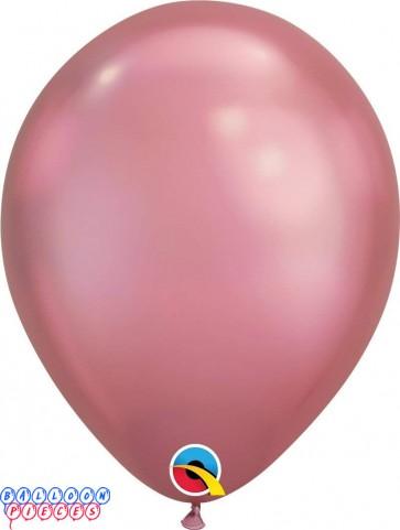 "Chrome Mauve Metallic 11"" Latex Balloons"