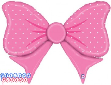 Baby Shower 43 inch Pink Bow Foil Balloon