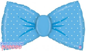 Baby Shower 42 inch Blue Bow Foil Balloon
