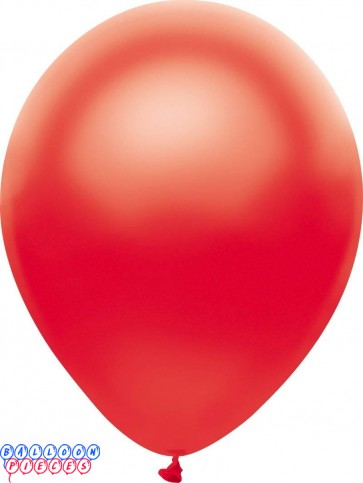 Metallic Satin Red Color 12inch Latex Balloons