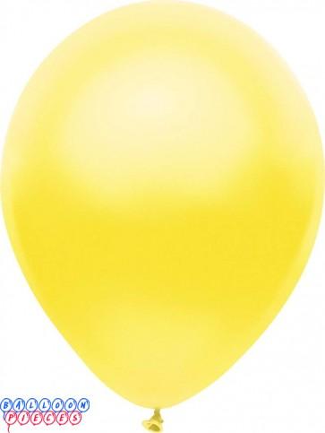 Metallic Silk Yellow Color 12inch Latex Balloons