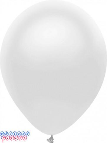 Metallic Silk White Color 12inch Latex Balloons