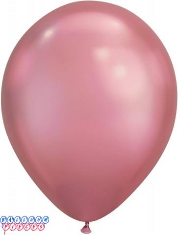 "Qualatex 7"" Chrome-Mauve Latex Balloons"