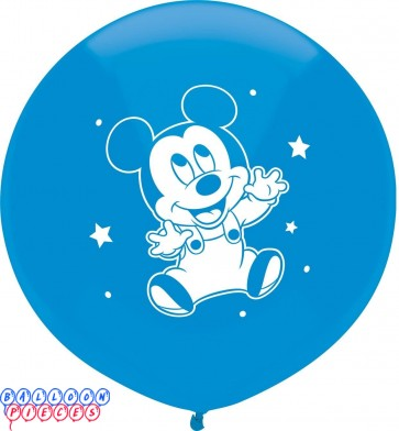 Disney Baby Mickey Mouse 17 inch Round Latex Balloons 3ct