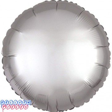 """Satin Luxe Platinum Sliver 18"""" Solid Color Round Foil Balloon"""