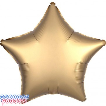 "Satin Luxe Gold 18"" Solid Color Star Shape Foil Balloon"