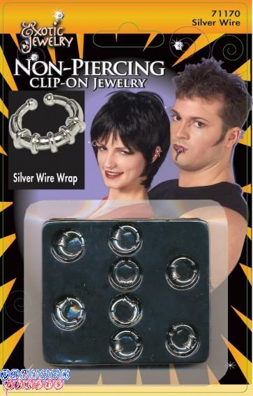 Body Piercing Wire Wrap - Silver