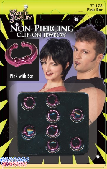 Body Piercing Bar Ring - Pink