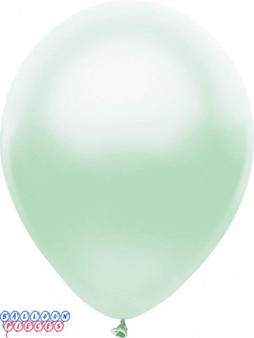 Metallic Silk Seafoam Color 12inch Latex Balloons