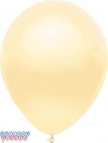 Metallic Silk Ivory Color 5inch Latex Balloons 50ct