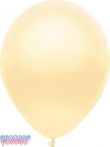Metallic Silk Ivory Color 12inch Latex Balloons