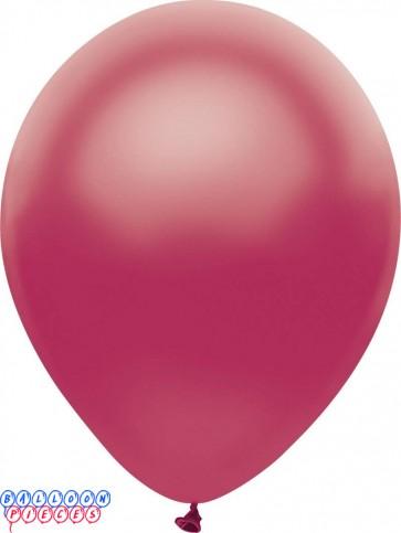 Metallic Satin Raspberry Color 12inch Latex Balloons
