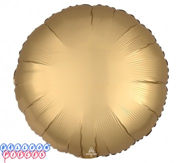 """Satin Luxe Gold 18"""" Solid Color Sateen Round Shape Foil Balloon"""