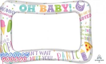 "Inflatable Selfie 23"" Frame - Baby Shower"