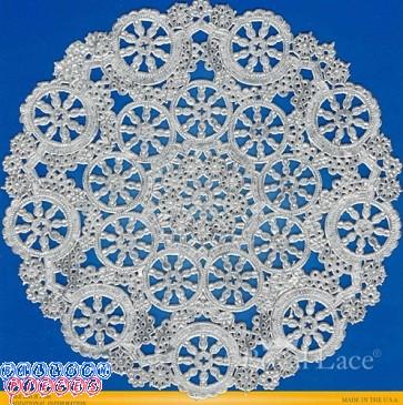 """Royal Lace Medallion 6"""" Silver Round Foil Paper Doilies"""