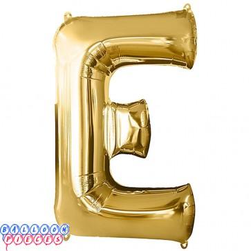 Giant Letter E Gold Mylar Balloon 40in