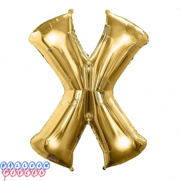 Giant Letter X Gold Mylar Balloon 40in