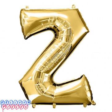 Giant Letter Z  Gold Mylar Balloon 40in