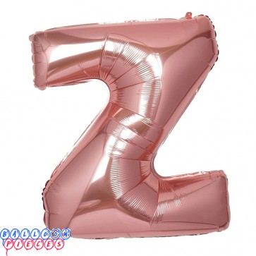 Giant Letter Z Rose Gold Mylar Balloon 40in