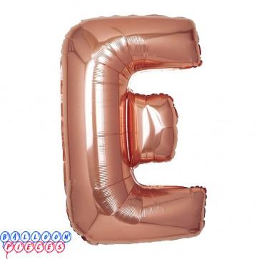 Giant Letter E Rose Gold Mylar Balloon 40in