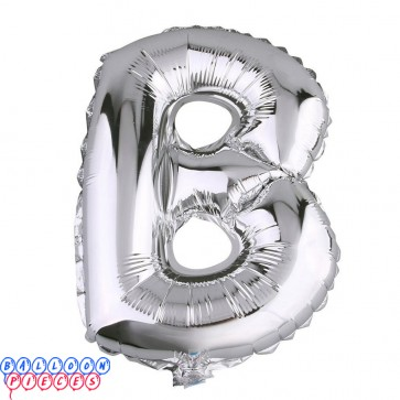 Giant Letter B Silver Mylar Balloon 40in