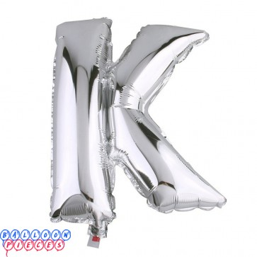 Giant Letter K Silver Mylar Balloon 40in