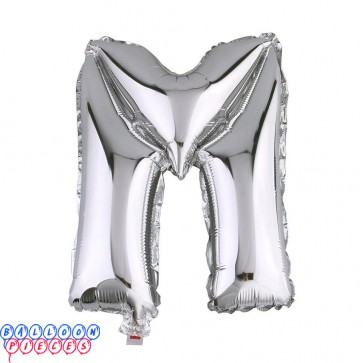 Giant Letter M Silver Mylar Balloon 40in