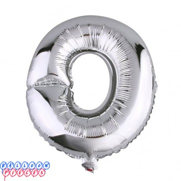 Giant Letter O Silver Mylar Balloon 40in