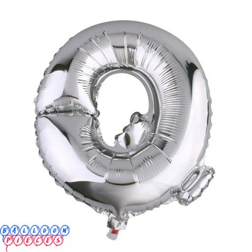 Giant Letter Q Silver Mylar Balloon 40in