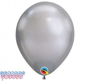 Chrome Sliver Metallic 11inch Latex Balloons