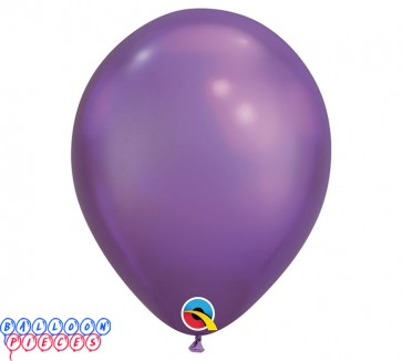 Chrome Purple Metallic 11inch Latex Balloons